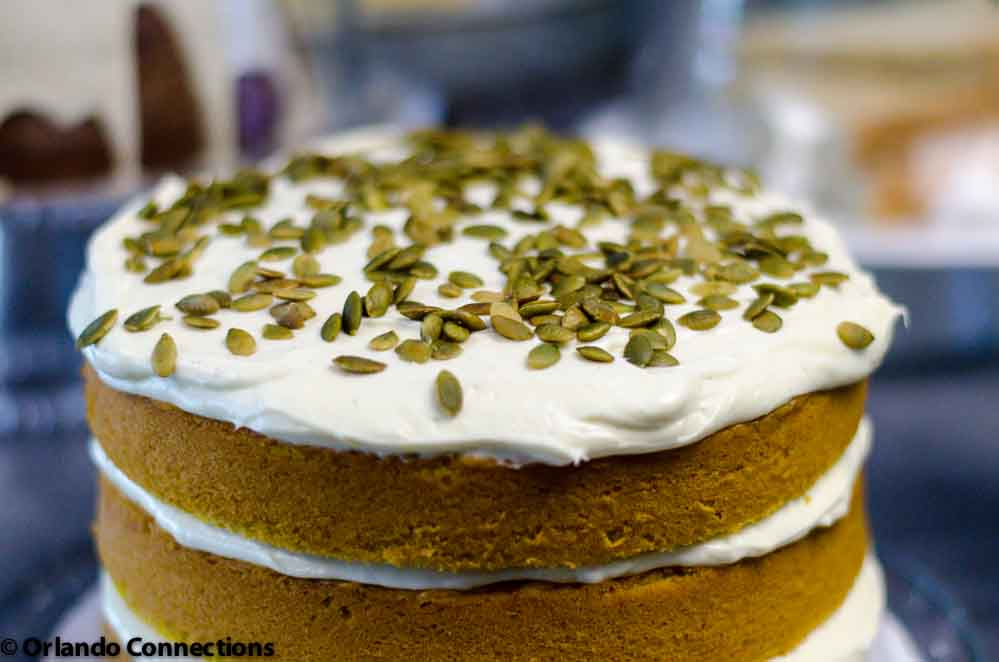 Pumpkin Spice Cake with Ginger Cream