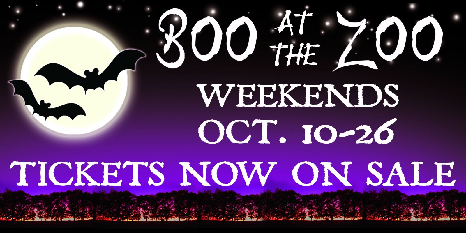 Boo at the Zoo:  October 10 – 26