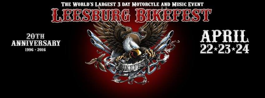 Leesburg Bikefest:  April 22 – 24