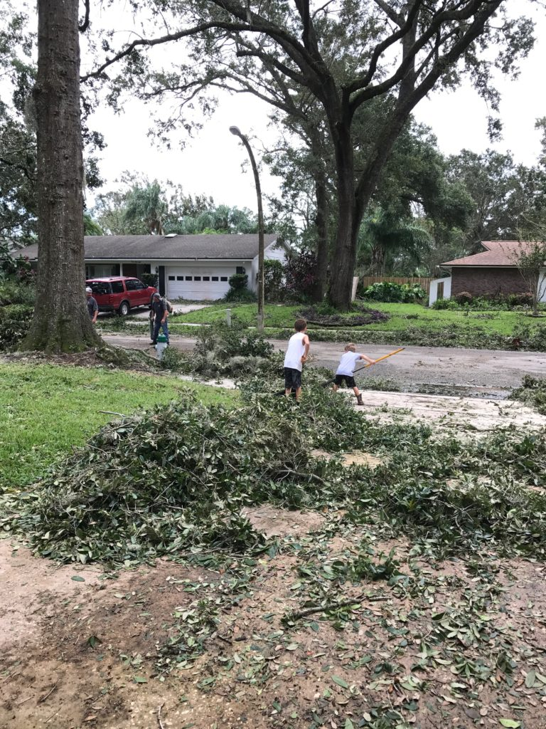 Neighbors helping neighbors after Hurricane Irma